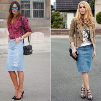 С чем носить джинсовую юбку: советы стилистов