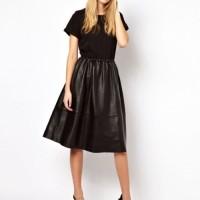 Советы, с чем носить кожаную юбку разных фасонов