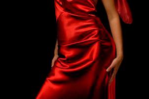 платья из атласа фото