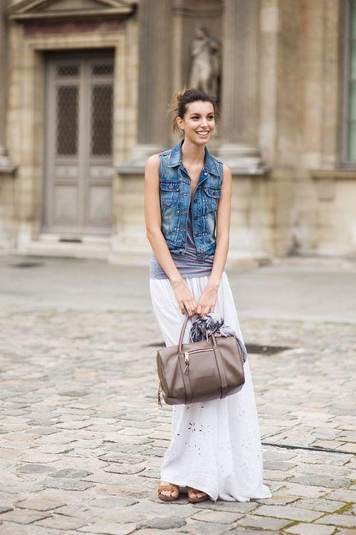 С чем носить белую юбку?