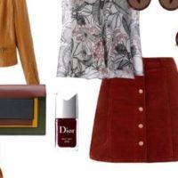С чем носить бордовую юбку: оригинальные сочетания стилей