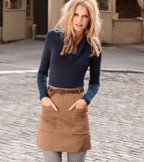 Выбираем коричневую юбку