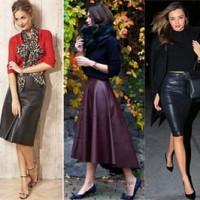 С чем носить кожаную юбку в сезоне 2016: советы стилистов