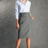 С чем носить серые юбки различных фасонов