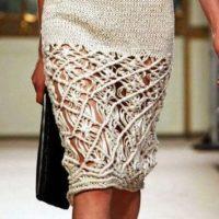С чем носить вязаную юбку: идеи для стильных леди