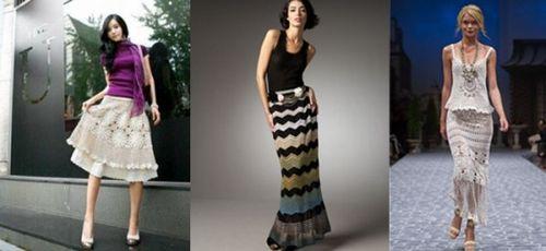 Выбираем вязанную юбку