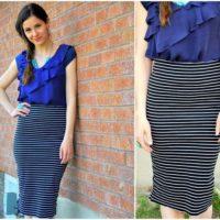 С чем носить юбку до колена: базовые варианты гардероба