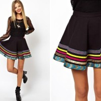 С чем носить юбку солнце: гармоничное сочетание цветов